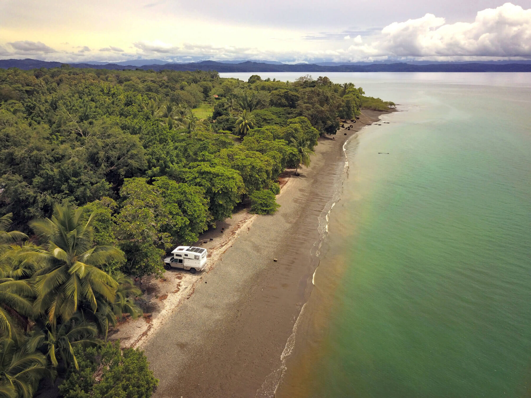 nimbl camper on playa blanca in costa rica