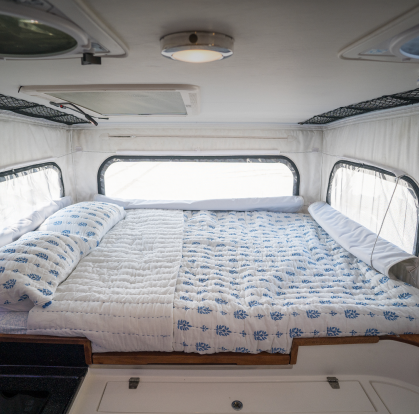 Interior Bed and Cabin